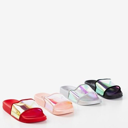 Рожеві шльопанці з голографічним ремінцем Blide - Взуття 1