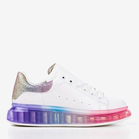 Різнокольорові кросівки з голографічною вставкою Judite - Взуття