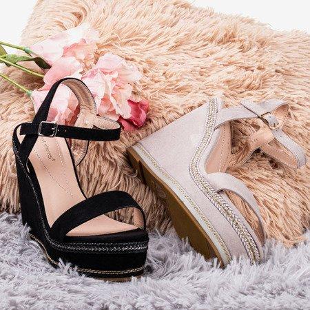 Сандалії на танкетці світло-сірого кольору Деметра - Взуття