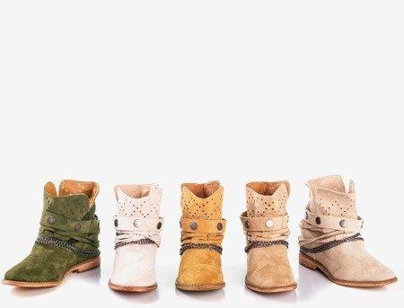 Світло-коричневі ковбойські черевики на закритому клині Salemi - Взуття 1