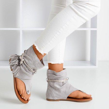 Світло-сірі босоніжки на шльопанці з верхньою частиною Semara - Взуття 1