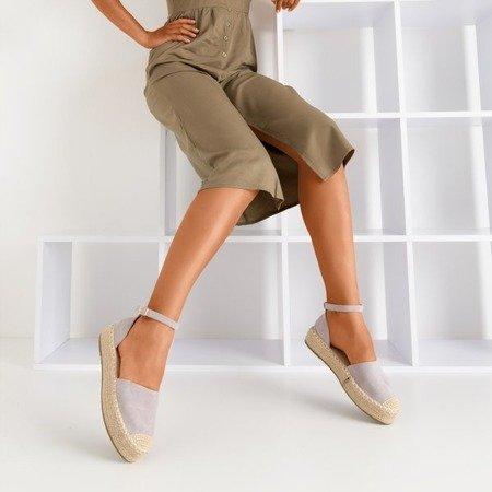 Світло-сірі еспадриси жіночі на платформі Maritel - Взуття