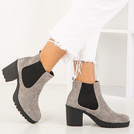 Світло-сірі жіночі черевики на пості Умберто - Взуття