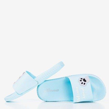 Сині жіночі тапочки з кішкою Cattus - Взуття 1