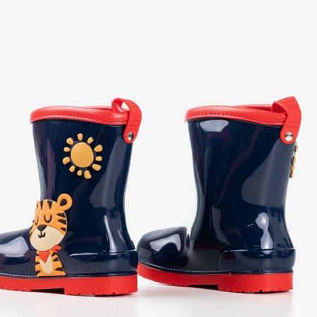 Сині та червоні дитячі чоботи дощу Smiley - Взуття 1