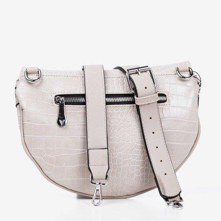 Сіра маленька сумка для нирок з тисненням тварин - Сумки