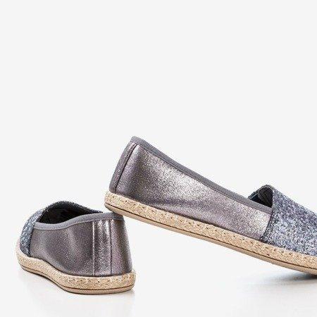 Сіре еспресо з парчі Акіла - Взуття 1