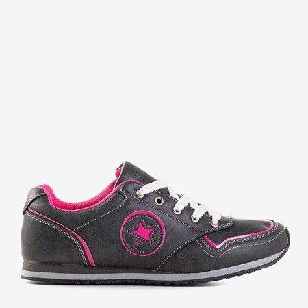 Сіре спортивне взуття з рожевими вставками Monti - Взуття 1