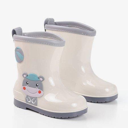 Сірі дитячі прихватки Smiley - Взуття 1