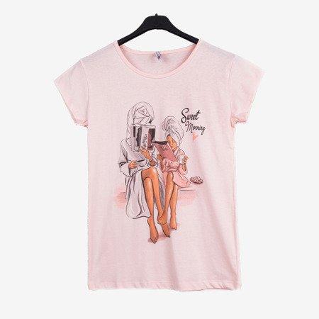 Футболка світло-рожева з короткими рукавами - Блузки 1