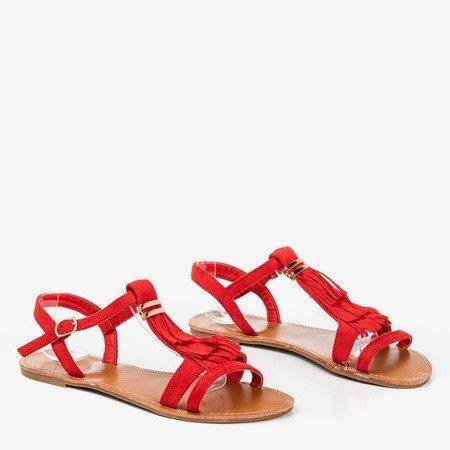 Червоні босоніжки з бахромою Minikria - Взуття 1