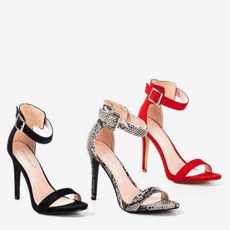 Червоні босоніжки на високому каблуці Suella - Взуття 1
