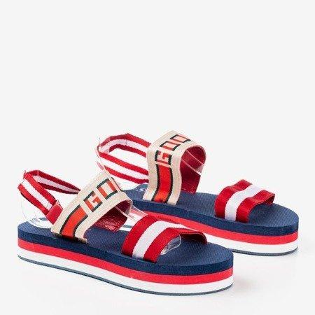 Червоні сандалі на платформі Calybe - Взуття