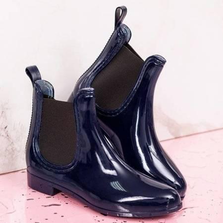 Чоботи з темно-синіх гумових чоботів Furu - Взуття 1