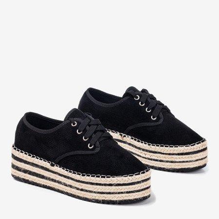 Чорне ажурне взуття на платформі Harness - Взуття