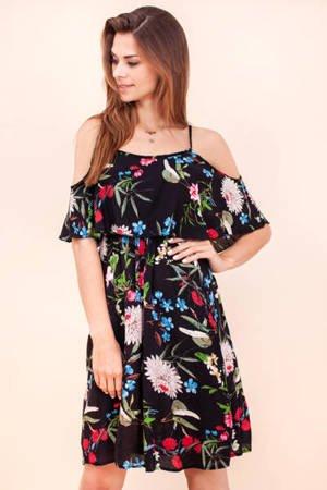 Чорне квіткове плаття - Одяг 1