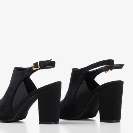 Чорні босоніжки з верхом на високій пості Bartom - Взуття