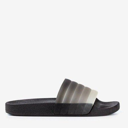 Чорні гумові тапочки Наліна - Взуття