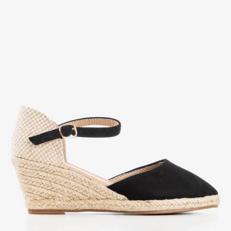 Чорні еспадрилі на клині Літній поцілунок - Взуття