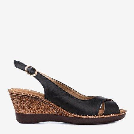 Чорні жіночі босоніжки на клині Minisa - Взуття 1