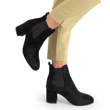 Чорні жіночі ботильйони з еко-замші Braszeri - Взуття