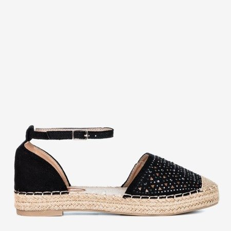 Чорні жіночі еспадрилі з ажурним декором Clia - Взуття 1