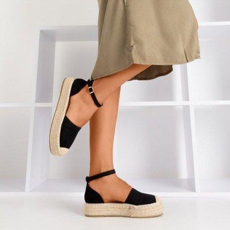 Чорні жіночі еспадрилі на платформі Maritel - Взуття