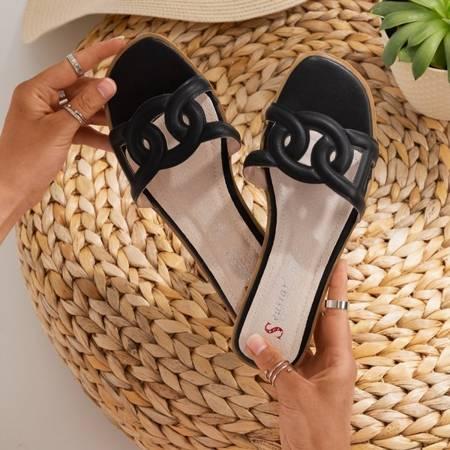 Чорні жіночі тапочки Вірменія - Взуття 1