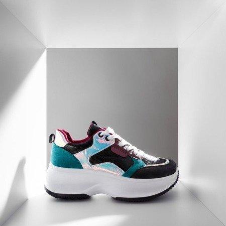 Чорні спортивні кросівки з різнокольоровими вставками Lingi - Взуття 1