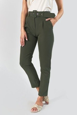 Штани жіночі із зеленим поясом - Одяг 1