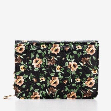багатобарвний, маленький гаманець із квітковим принтом - гаманець 1
