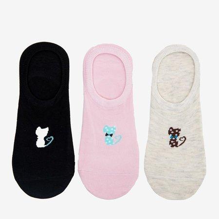 Барвисті жіночі шкарпетки з принтом 3/уп. - Шкарпетки