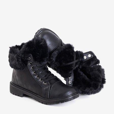 Чорні жіночі черевики з хутром Zonevka - Взуття