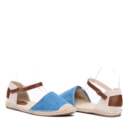 Niebieskie espadryle Kara- Obuwie