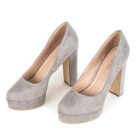 OUTLET Сірі туфлі на стійці Cerelia - Взуття
