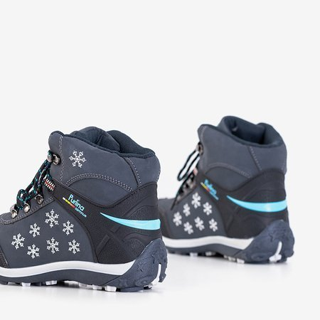Темно-сині жіночі черевики зі сніжинками Flakes - Взуття