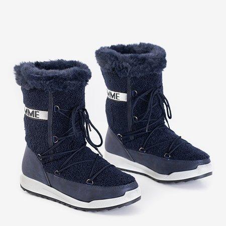 Темно-сині жіночі утеплені чоботи Columbita - Взуття