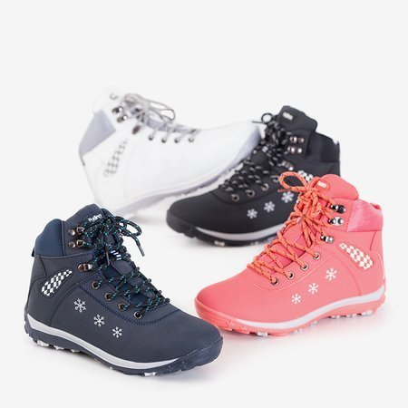 Жіночі темно-сині зимові черевики зі сніжинками Sniesavo - Взуття