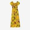 Жовте довге квіткове плаття - Одяг