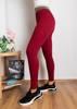 Жіночі бордові лосини з блиском - Одяг