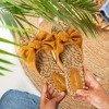 Коричневі жіночі шльопанці з бантом Revda - Взуття 1