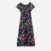 Плаття з темного кольору з квітковим принтом - Одяг 1