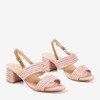 Рожеві босоніжки на низькому каблуці Riota - Взуття