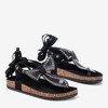 Чорні босоніжки Celione, пов'язані шльопанці - Взуття 1