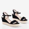 Чорні жіночі босоніжки на клині Zitta - Взуття 1