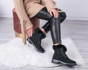 ВИХІД Чорні утеплені туристичні черевики Ellah - Взуття